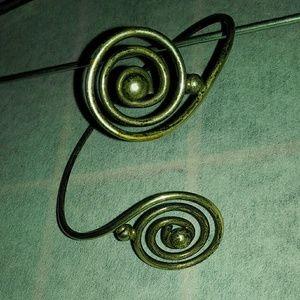 Jewelry - Silver arm band! Upper arm cuff.